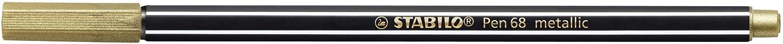 /2/Unidades Premium de fieltro l/ápiz/ color dorado 2er Blister /STABILO Pen 68/Metallic/