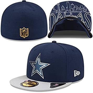 cef1b2df970 Dallas Cowboys New Era Official NFL 2015 DRAFT On-Stage Fitted 59Fifty Navy  Blue Hat (7 1 8)