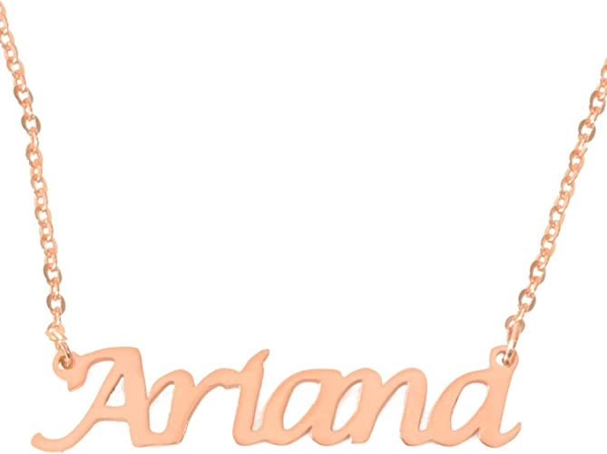 Zacria Hope Name Necklace 18ct Rose Gold Plated