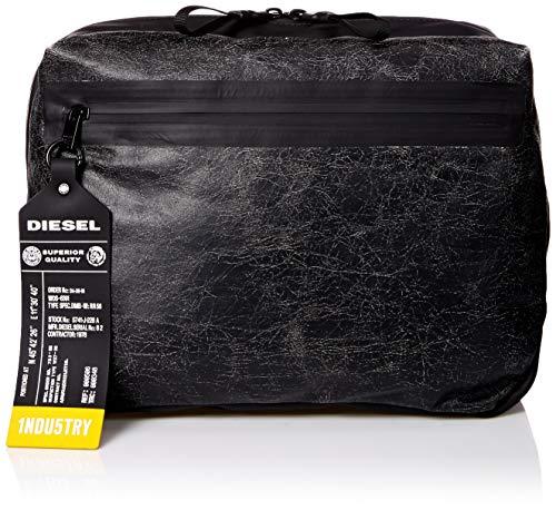 Diesel Men's VOLPAGO CROSSPLUS-Belt Bag, Treated Black, UNI
