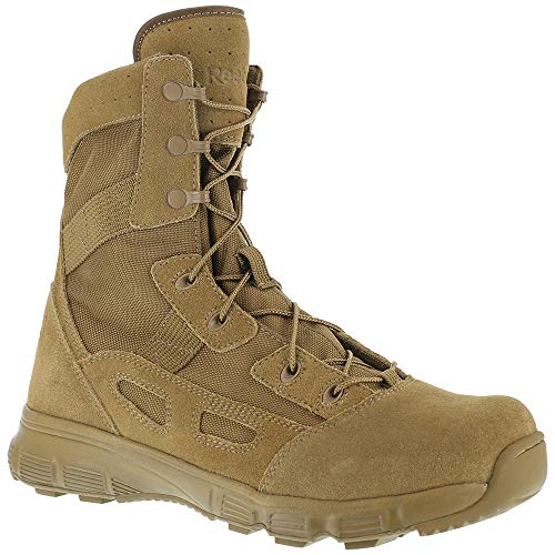 (Reebok Womens Coyote Leather Tactical Boots Hyper Velocity Laceup 11 M Tan)