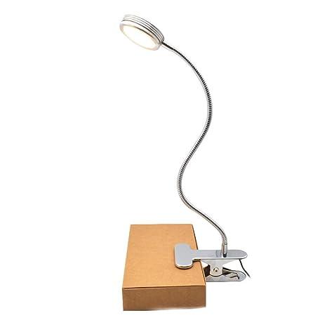 Lámpara Flexo LED de Pinza - GreeSuit clip en lámpara de noche lámpara de cuello de cisne flexible cambiable para mesa de lectura, cabecero de cama y ...