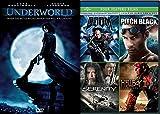 Dark Black Sci-Fi Action Underworld + Serenity / Hellboy Golden Army / Pitch Black Chronicles of Riddick / Doom DVD Movie 5 Film Favorites