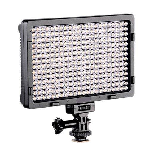 LED PT-308B Dimmable Ultra High Power Panel Digital Camera/Camcorder Video Light, LED Light for Canon, Nikon, Pentax, Panasonic,Sony, Samsung and Olympus Digital SLR Cameras