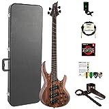 ESP LB1004SEMSRNS-KIT-2 B Series B-1004SE Multi-Scale 4-String Electric Bass Guitar, Natural Satin