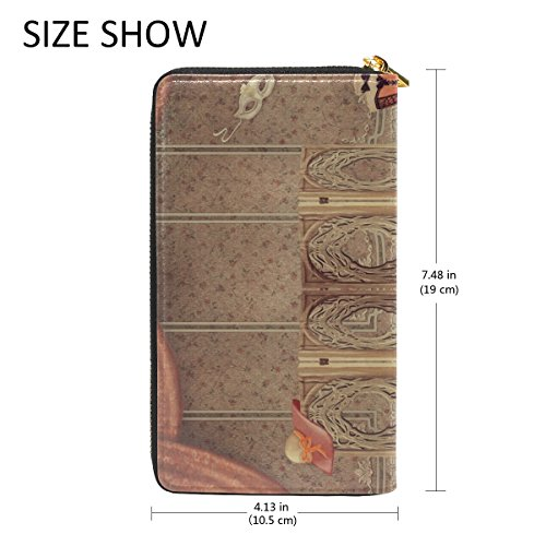Zip TIZORAX Room Screen And Around Handbags Fashionable Vintage And The Wallet Clutch Dummy Purses Womens Organizer gwxqOwTcCf