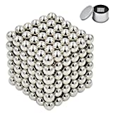 Eachway Silver Magnetic Ball Magnetic Sculpture Creative Toys for Anti-Stress Intelligence Development Office Desk Toys(5MM 216 Magnetic Balls)