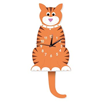 : HLDY 3D Nette Katze Wanduhr Kinderzimmer