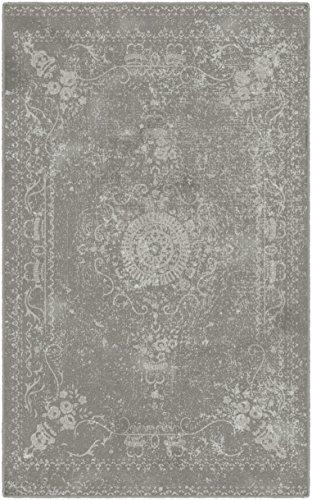 Brumlow Mills Neutral Distressed Persian Rug, 5 x 8
