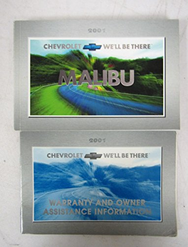 2001 Chevy Chevrolet Malibu Owners Manual Guide Book