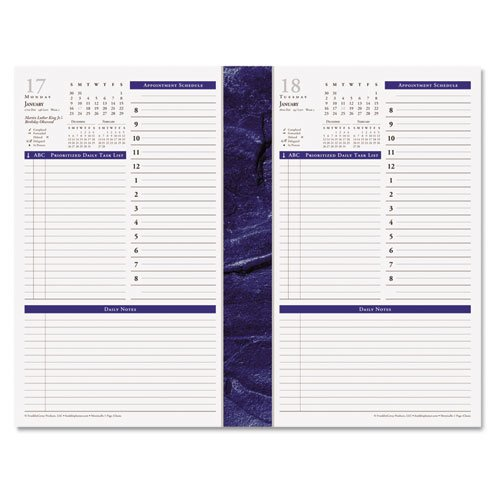 FDP37063 - Monticello Dated One-Page-per-Day Planner Refill ()