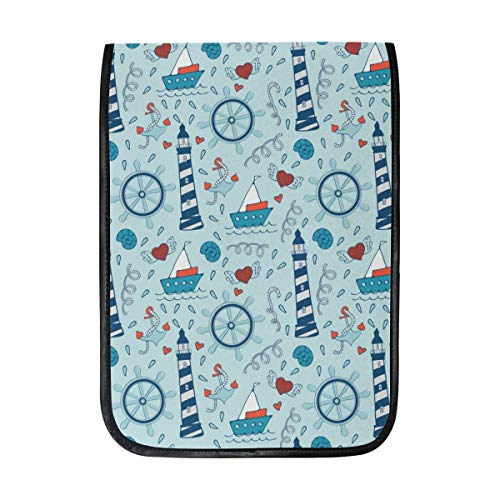 12 Inch Ipad IPad Pro Laptop Sleeve Canvas Notebook Tablet Pouch Cover for Homeschool, Travel, Etc Colorful Sea Life Steering Wheels