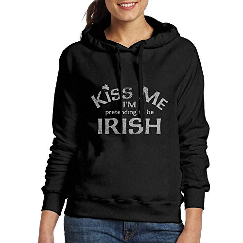 Kiss Me I'm Pretending To Be Irish Women's Hooded Sweatshirt