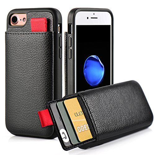 iPhone 8/ 7 Wallet Case, iPhone 7 Leather Case, LAMEEKU Shockproof cover with ID Credit Card Slot Holder & Money...  iphone 7 cases with card holder | Top 10 iPhone 7 Wallet Cases – Do you need a full wallet replacement or something on the go? 51mVpDDANGL