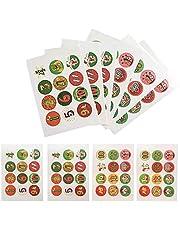 Nummer Klistermärken Julkalender Count Number Stickers Baking dekoration Självhäftande Christmas Labels