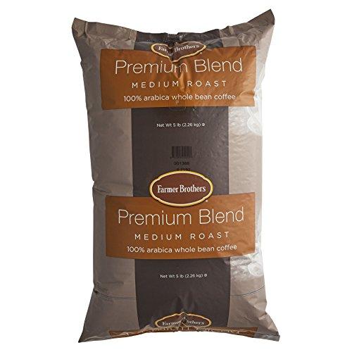 Farmer Brothers Premium Blend 100% Arabica Whole Bean Coffee - 5 lb. Bag