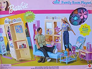 Amazon Com Barbie All Around Home Family Room Playset W