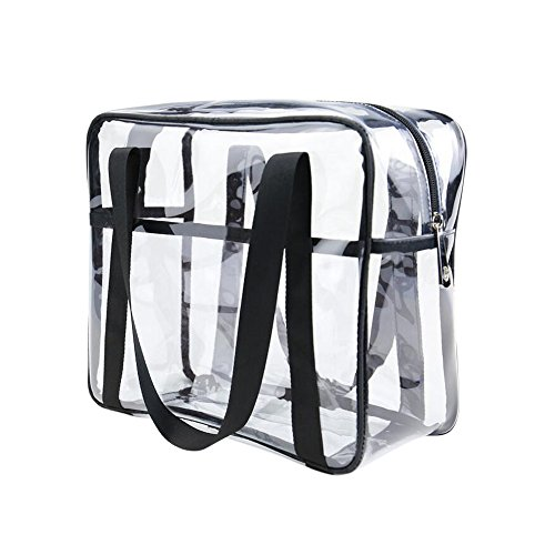 ONEGenug Clear Toiletry Bag Thick Transparent Cosmetic Bag Waterproof Makeup Artist Large Bag Diaper Case Luggage Organizer Storage Easy Clean