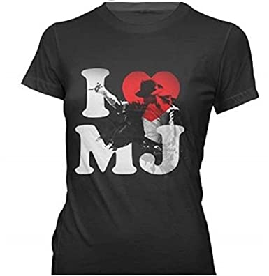 61382966e430 Amazon.com  Bravado Juniors Michael Jackson  I Heart Mj T-Shirt  Clothing