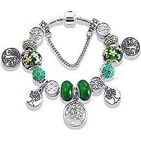 Pulseira Bracelete Feminino Com Berloques Modelo Árvore da Vida