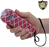 StreetWise Ladies Choice 21 Million Volt Rechargeable Stun Gun with Alarm and Flashlight, Pink Stripe (2)