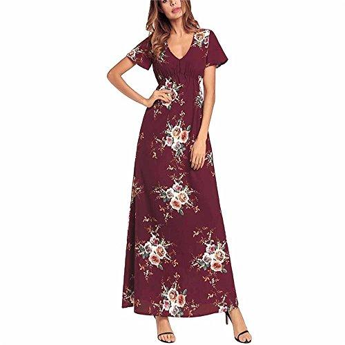 De Grande Robes Robes Robes Soie Gamme Robes Mousseline La Nouveau Robes D't De de Femme Haut Imprimes L 2018 Plage Robes Robes Xxl Mode en DYEWD Robes qP8va