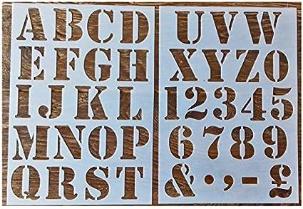 Pochoir De Peinture A Chiffres Lettres De L Alphabet 50 Mm En Majuscule Amazon Fr Cuisine Maison