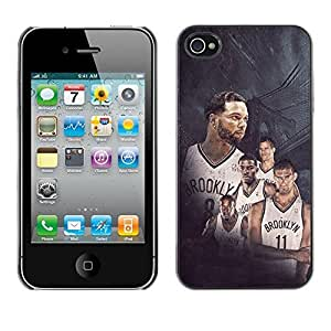BasketCase Brooklyn Nets Rising Basketball Apple Iphone 6 plus 5.5 / 6 plus 5.5S / / Slim 360 Protection Case Cover PC / Aluminium Protector Shell Rugged