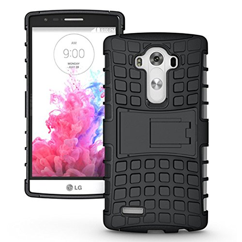 LG G4 Case,K-Xiang (Armor Series) Kickstand Heavy Duty Protection Hybrid Shockproof Dual Layer Protective Case Cover With Stand for LG G4 (Black)