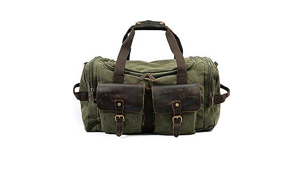 d3407ae293eb Amazon.com : KEROUSIDEN Men's Portable Canvas Travel Bags Large ...