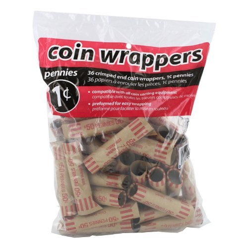 Coin-Tainer Penny Coin Wrappers, Pack of 36
