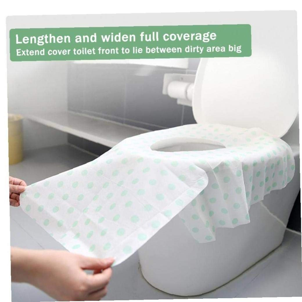 Angoter 10Pcs Large Size Potty Seat Cover Potty Protectors Disposable Toilet Seat Cover for Travel Camping Bathroom Accessior