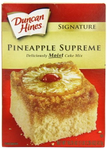 Duncan Hines Signature Pineapple Cake Mix, 16.5-Ounce Boxes (Pack of 6)