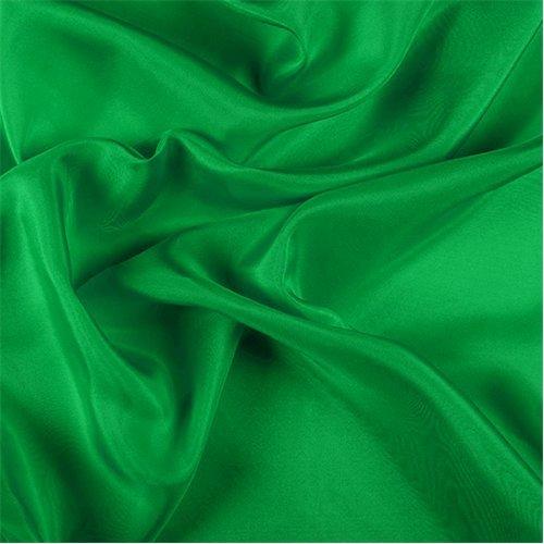 Chine Yarns - Green Silk Crepe de Chine, Fabric By the Yard