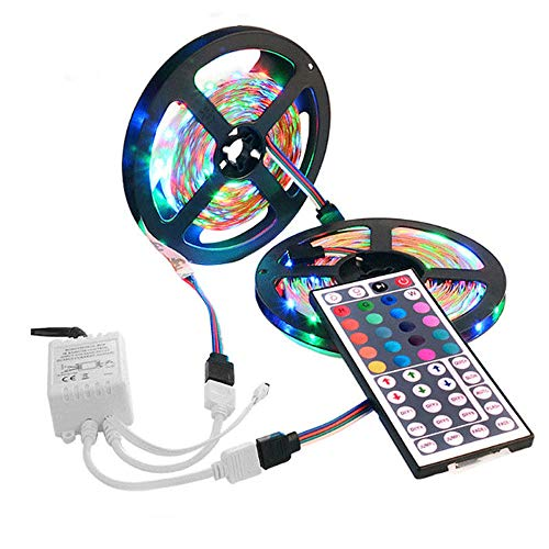 - Hanku10M 3528 SMD RGB 600 LED Strip Light String Tape+44 Key IR Remote Control