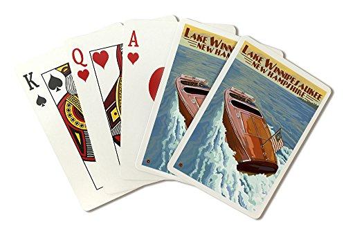 Lake Winnipesaukee, New Hampshire - Chris Craft Boat (Playing Card Deck - 52 Card Poker Size with Jokers) by Lantern Press