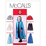 McCall's Patterns M4703 Children's/Girls' Lined Capelets and Capes, Size CL (6-7-8)