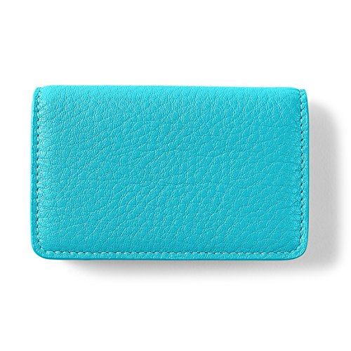 Leather Business Case Pink Card Full Grain Mauve Teal Leather 1fOvOqwx
