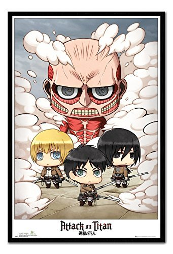 iPosters Attack On Titan Chibi Group Póster Magnético Tablón ...