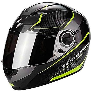 Scorpion Exo 490 Vision Negro Amarillo Motocicleta Casco Tamano L