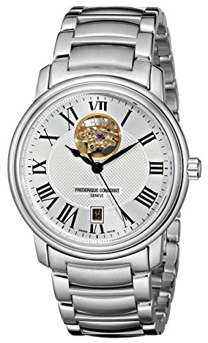 Frederique Constant Men's FC-315M4P6B3 Heart beat Stainless Steel Open Dial Bracelet Watch