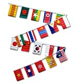 Cheap 30ft String Flag Set of 20 Asian Flags