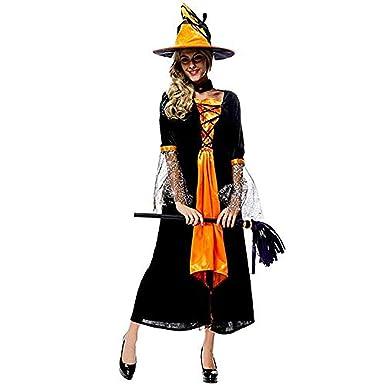 1129bda230e Amazon.com: New Luxury Witch Costume Halloween Christmas Carnival ...