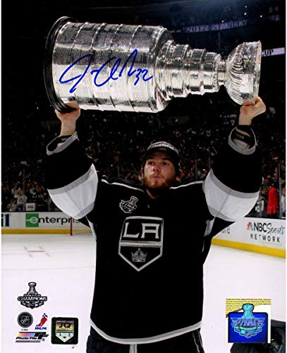 Jonathan Quick Holding Stanley Cup Signed Vertical 8x10 Photo - Steiner Sports Certified - Autographed NHL Photos
