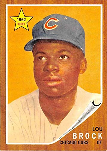 (Lou Brock baseball card 2010 Topps #CMT127 Insert Edition (Chicago Cubs) 1962 Rookie Reprint )