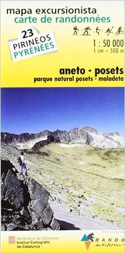 Carte de randonnées n°23 Aneto-Posets 1/50.000