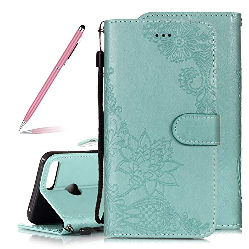 ed3b9915a3f34d Luxury Pretty Lace Flowers Lotus Embossing Design Flip Wallet Case for  Huawei Honor 9 Lite