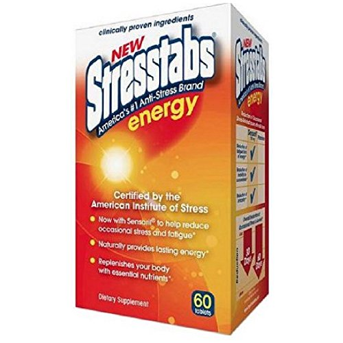 StressTabs Energy 60tab,(Pack of 2) (Best Vitamins For Energy And Stress)