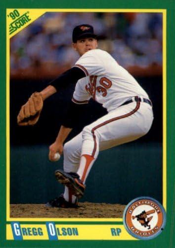 Amazon Com 1990 Score Baseball Card 63 Gregg Olson Collectibles Fine Art