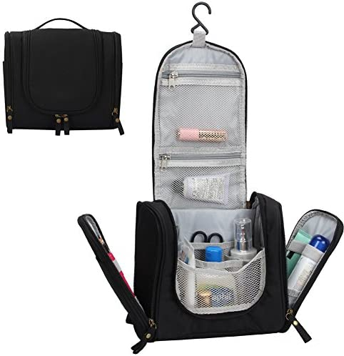JAVOedge 6 PCS SET 2 qty x Large Size, 4 qty x Small Size Clear PVC Cosmetic Makeup Organizer, Travel Toiletry Bag